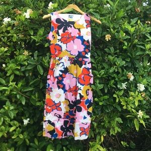 Contemporary floral print Anthropologie dress